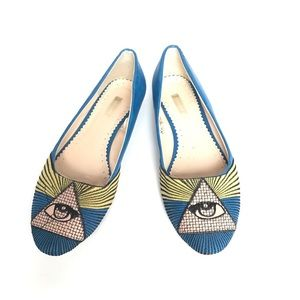 Urban Outfitters Egyptian Eye of Ra Ballet Flats 8